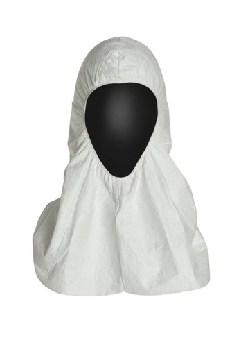 Tyvek® White Disposable Hoods with Elastic Face for Head and Face Protection TY657 - Case of 100 ##14385 ##