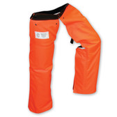 Class E Hi-Vis Patented Zipper Style Chainsaw Chaps - Safety Orange ##ZIPCHAP-OCLE ##