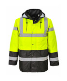 Hi-Vis Traffic Jacket - Hi-Vis Yellow/ Black Bottom ## US466YBK ##