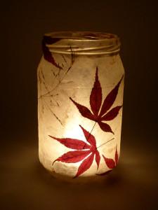 SOLD - Lokta Paper - Acer & Grass Lantern