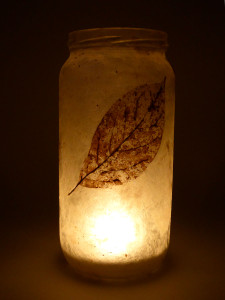 Lokta Paper -  Skeleton Leaves Lantern