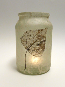 SOLD - Lokta Paper - Large Leaf Skeleton Lantern