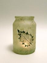 SOLD - Lokta Paper - Holly Leaf Lantern