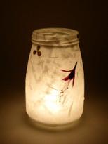 SOLD - Silk Strand Paper - Fuchsia & Clover Lantern
