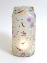 SOLD - Silk Strand Paper - Petals, Flowers & Leaves Lantern