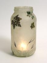 SOLD - Lokta Paper - Geranium Robertianum & Grass Seed Lantern