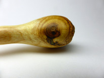 SOLD - Hand Crafted Mulberry Wood Hair Pin with Bark