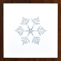 Snowflake Cards - pack of 6