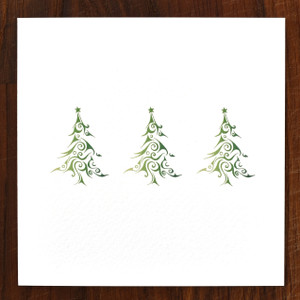 Christmas Trees Cards - pack of 6