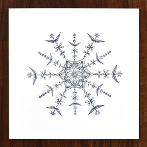 Snowflower Cards - pack of 6