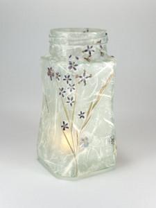 Lavender Daisies Lantern