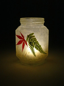 SOLD - Acer & Fern Leaf Lantern