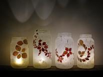 SOLD - Berberis Flower Leaf Lantern