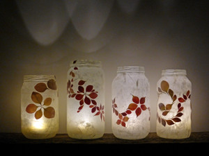 SOLD - Berberis Flower Leaf Lantern
