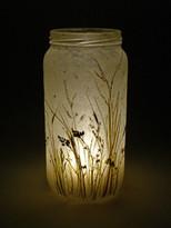 SOLD - Lavender Meadow Lantern