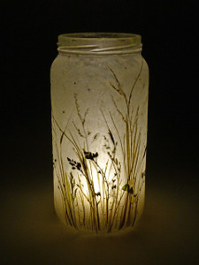 SOLD - Lavender Meadow Lantern