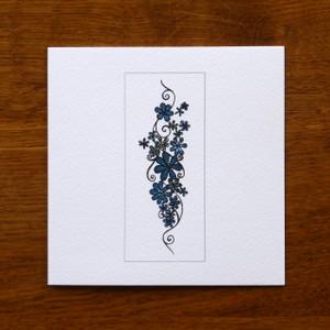 Teal Flowers Card