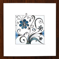 Teal Garden Card
