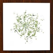 Flower Spiral Card