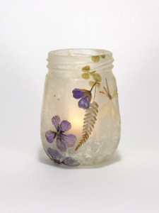 SOLD - Purple Geranium Lantern