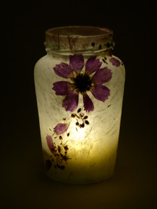 SOLD - Purple Cosmos Lantern