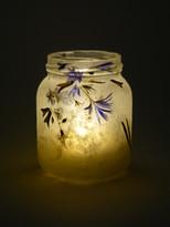 SOLD - Blue Flower Lantern