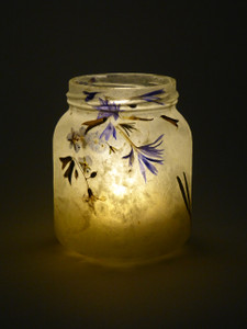 SOLD - Blue Flower Lantern