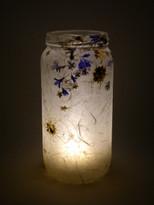 SOLD - Nigella & Blue Flower Lantern
