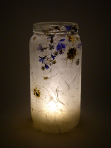 SOLD - Nigella & Blue Flower Lantern