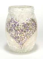 SOLD - Heather Heart Lantern