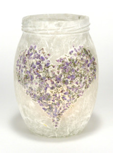 SOLD - Heather Heart Lantern