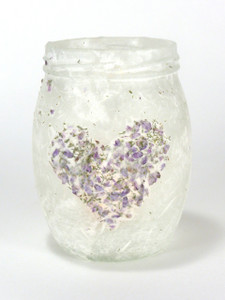 SOLD - Wild Heather Heart Lantern