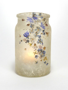 SOLD - Flowers & Blues Lantern