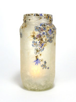 SOLD - Blues & Flower Lantern