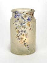 SOLD - Flower Blues Lantern