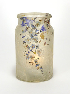 SOLD - Flower Blues Lantern