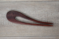 SOLD - Hand Crafted Small Purpleheart Wood Hair Fork