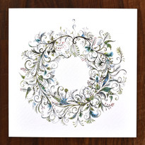 Wreath Cards - pack of 6