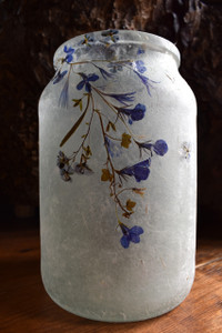 SOLD - Indigo Flower Lantern