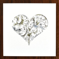 Botanical Heart Cards - pack of 6
