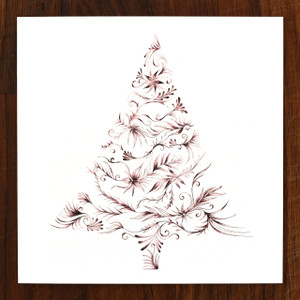Ruby Tree Cards - pack of 6