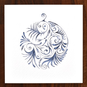 Indigo Bauble Cards - pack of 6