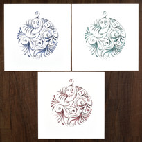Bauble Collection - pack of 12 ( 4 x 3 designs )