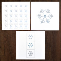Snowflake Collection – Pack of 12  ( 3 x 4 designs )