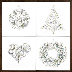 Christmas Collection – Pack of 12  ( 3 x 4 designs )
