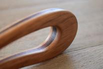 Large Walnut & Purpleheart Wood Hair Fork