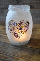SOLD - Flower Heart Lantern