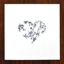 Indigo Heart Card