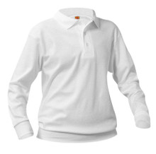 Overshirt Interlock Knit Hemmed Long Sleeve Polo-White
