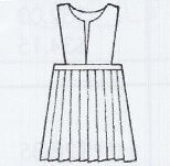 Knife Pleat Skirt With Slit Front Top Half Size